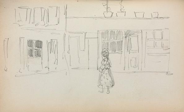 Pencil「Italian Sketchbook: Street Scene With A Girl ( Page 159)」:写真・画像(7)[壁紙.com]