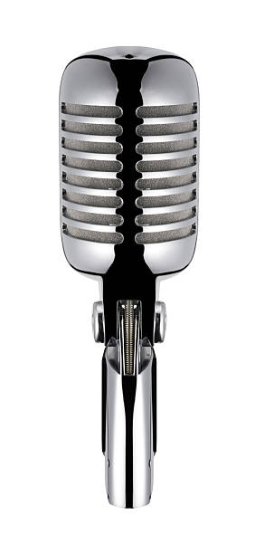 Vintage Microphone (isolated with clipping path over white background):スマホ壁紙(壁紙.com)