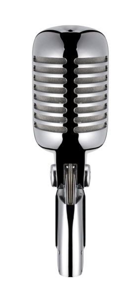 Start Button「Vintage Microphone (isolated with clipping path over white background)」:スマホ壁紙(13)