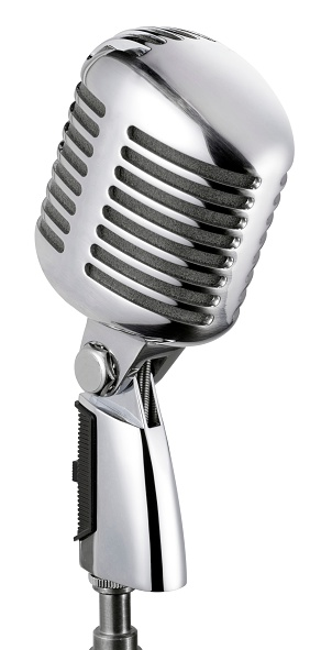 Start Button「Vintage Microphone (isolated with clipping path over white background)」:スマホ壁紙(19)