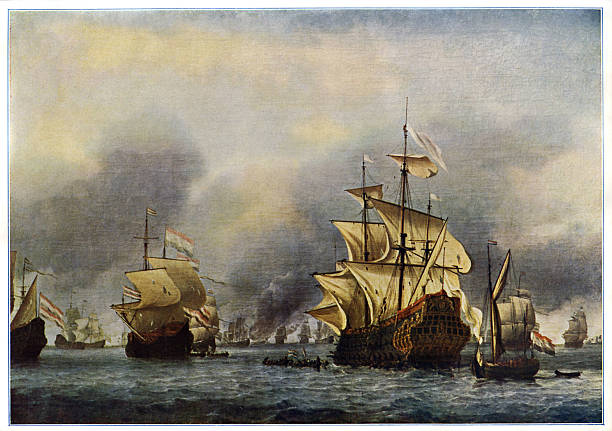 Naval battle of June 1666.  Second Anglo-Dutch war:ニュース(壁紙.com)