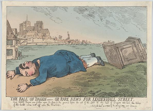 Cartoon「The Fall Of Dagon - Or Rare News For Leadenhall Street」:写真・画像(6)[壁紙.com]