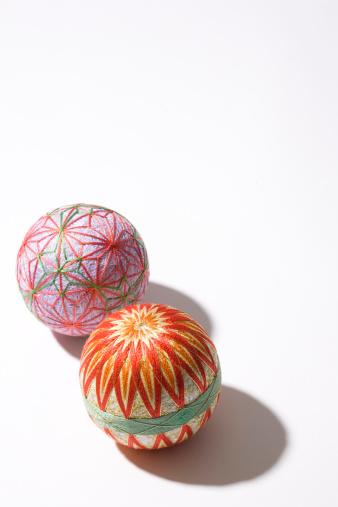Embroidery「Two mari balls」:スマホ壁紙(15)