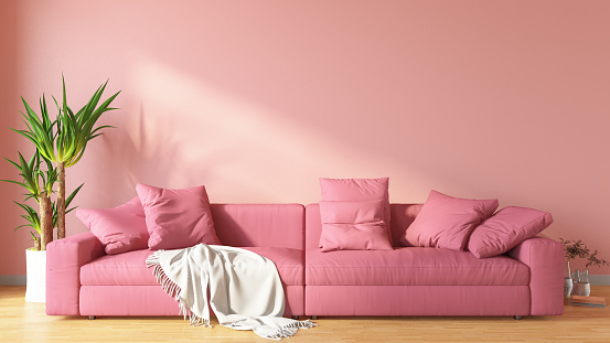 Pink「Pink Living Room with Sofa」:スマホ壁紙(16)