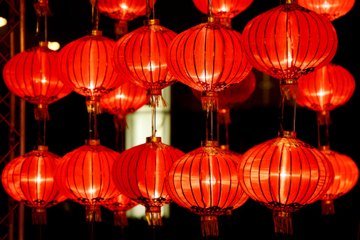 Chinese Lantern「Red lanterns for Chinese New Year」:スマホ壁紙(7)