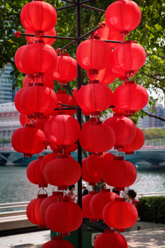 Chinese Lantern「Red Lanterns. Singapore. Southeast Asia」:スマホ壁紙(3)