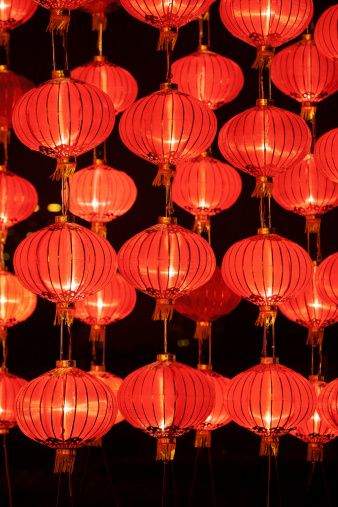 Chinese Lantern「Red lanterns for Chinese Traditional Festival」:スマホ壁紙(7)
