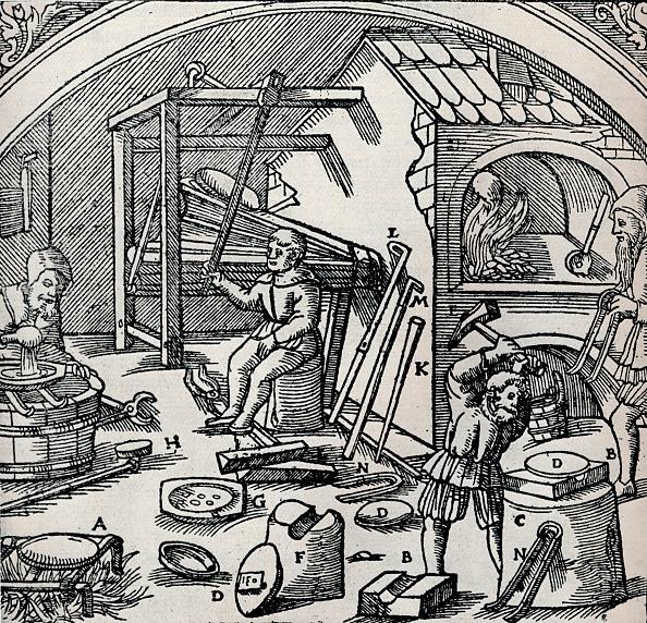 16世紀のスタイル「A Silver Refinery, 1556, (1917).」:写真・画像(10)[壁紙.com]