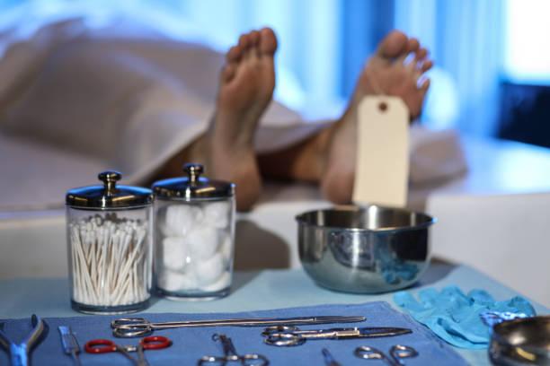 Corpse in morgue. Focus on toe tag.:スマホ壁紙(壁紙.com)