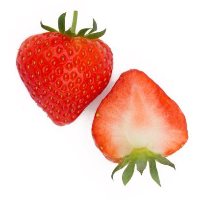 Part Of「Halves of fresh, ripe strawberry side by side」:スマホ壁紙(15)
