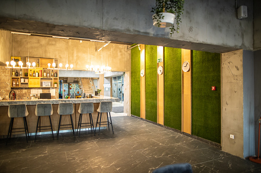 Stool「Modern pub with bar stools」:スマホ壁紙(1)