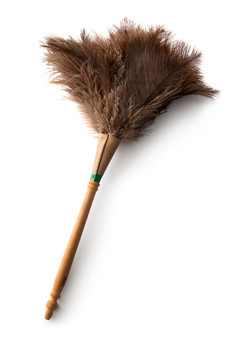 Cleaning Equipment「Cleaning: Feather Duster Isolated on White Background」:スマホ壁紙(12)