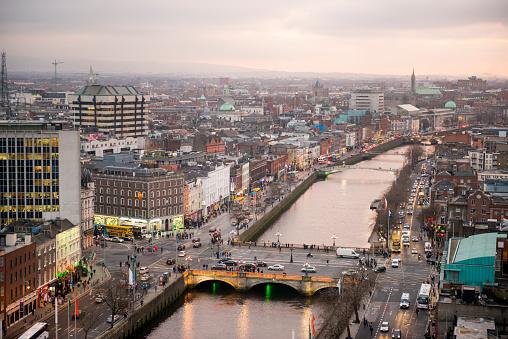 Dublin - Republic of Ireland「Dublin city centre at sunset」:スマホ壁紙(0)