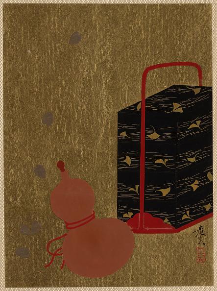 Gourd「Lacquer Box And Gourd. Creator: Shibata Zeshin.」:写真・画像(5)[壁紙.com]