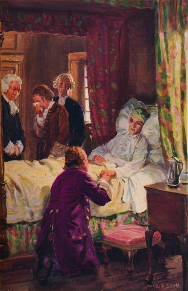 Bedroom「'Jones flung himself at his benefactor's feet', c1800, (1934)」:写真・画像(0)[壁紙.com]