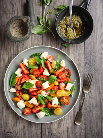 Pesto Sauce「Healthy Tomatoes salad」:スマホ壁紙(11)