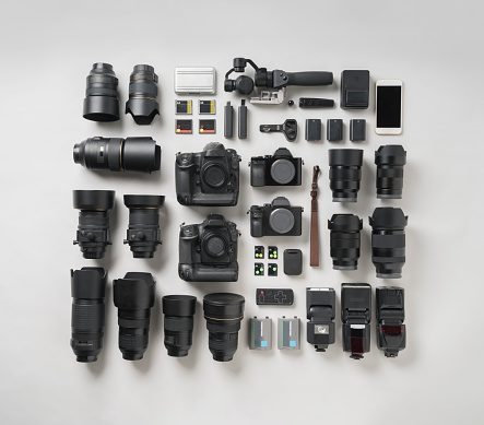Power Supply「Digital camera item knolling style.」:スマホ壁紙(18)