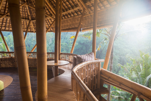 Ubud District「Bamboo hotel patio, Ubud, Bali, Indonesia」:スマホ壁紙(10)