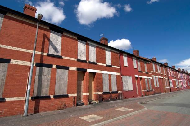 Derelict housing estate, Salford area, Manchester, United Kingdom:ニュース(壁紙.com)