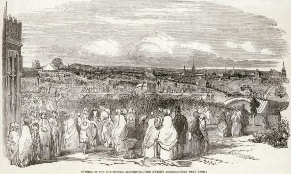 Ornamental Garden「The opening of the Nottingham Arboretum, Nottinghamshire, May 1852.」:写真・画像(7)[壁紙.com]