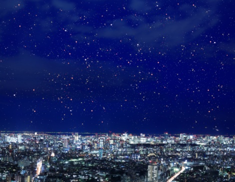 星空「Night view of the direction of Chiyoda Ward, Tokyo, Japan.」:スマホ壁紙(8)