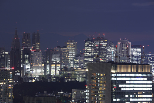 Tokyo - Japan「Night view of Tokyo skyline」:スマホ壁紙(9)