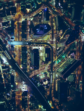 Minato Ward「Night view aerial photography of Shiodome」:スマホ壁紙(18)