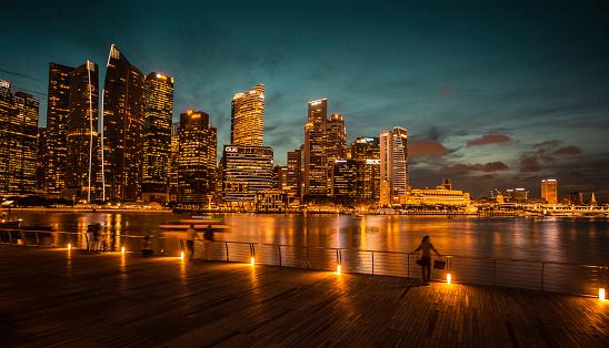 Deck「Night View of Marina Bay, Singapore.」:スマホ壁紙(15)