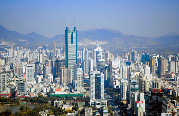 Urban Skyline「Shenzhen skyline with landmark Diwang Building, Guangdong, China」:写真・画像(18)[壁紙.com]