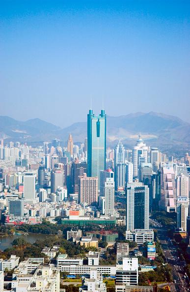 風景「Shenzhen skyline with landmark Diwang Building, Guangdong, China」:写真・画像(18)[壁紙.com]