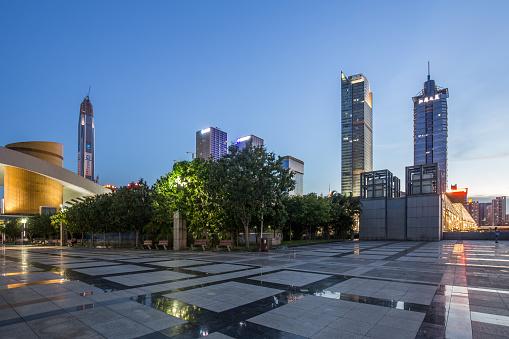 Town Square「Shenzhen skyline at dusk」:スマホ壁紙(11)