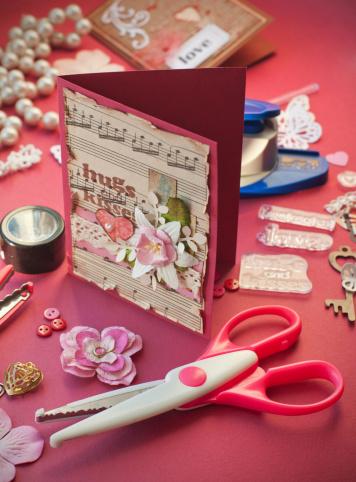 スクラップブック「Scrapbooking 、バレンタインデー」:スマホ壁紙(11)