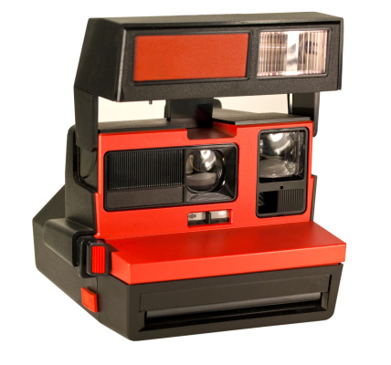 Instant Camera「Red Instant Camera Isolated on White」:スマホ壁紙(16)