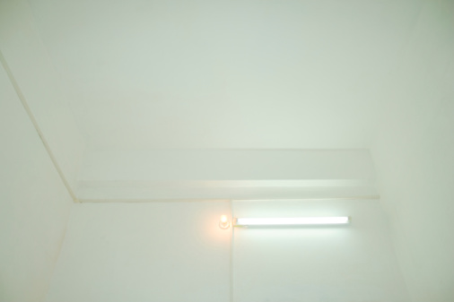 Zhongshan - Guangdong Province「Conventional light bulb with fluorescent light illuminated in a room, Zhongshan, China」:スマホ壁紙(7)