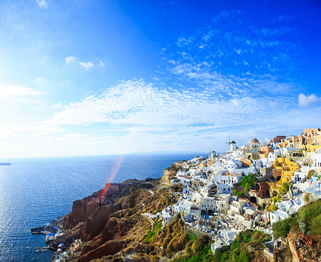 Aegean Sea「Sanorini skyline, Greece」:スマホ壁紙(14)