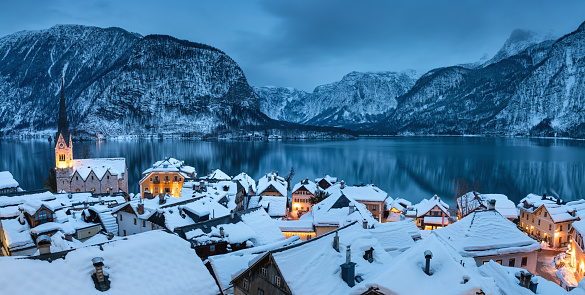 European Alps「Hallstatt Panorama」:スマホ壁紙(18)