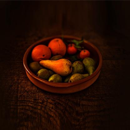 梨「Bowl of fruit with autumn colours」:スマホ壁紙(10)