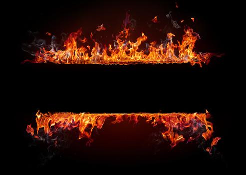 炎「火災フレーム」:スマホ壁紙(17)