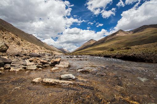 Shallow「River in Tibet, China」:スマホ壁紙(2)