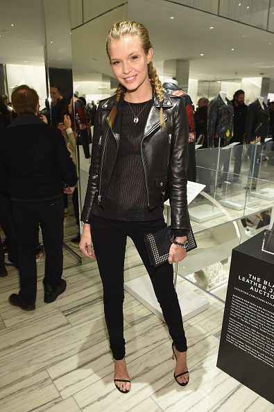 Leather Jacket「Barneys New York Celebrates Its New Downtown Flagship In New York City」:写真・画像(2)[壁紙.com]