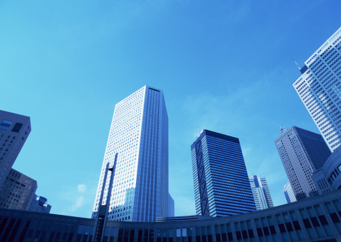 Low Angle View「Office towers」:スマホ壁紙(19)