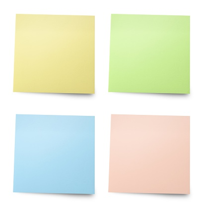 Adhesive Note「Isolated picture of color cards」:スマホ壁紙(9)