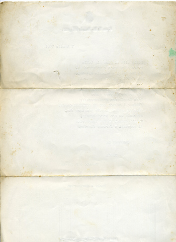 Letter - Document「Isolated picture of old, aged white paper」:スマホ壁紙(15)