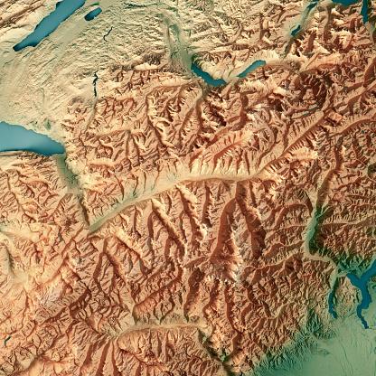 Map「ヴァレー州スイス連邦共和国 3 D 地形図を表示します。」:スマホ壁紙(15)