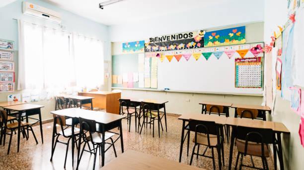 Empty Primary School Classroom:スマホ壁紙(壁紙.com)