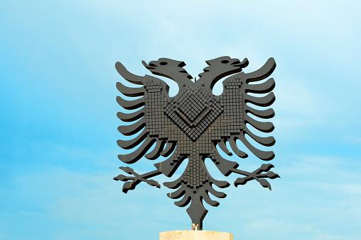 Double-headed Eagle「National symbol of Albania, a double-headed eagle, Tirana, Albania」:スマホ壁紙(3)