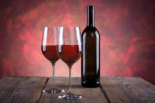 Wine Bottle「Still life with wine bottle and wine glasses」:スマホ壁紙(4)