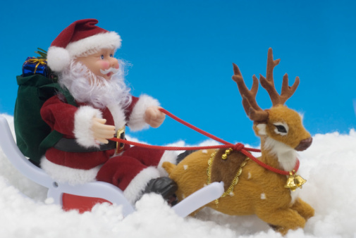 Sled「still life of toy santa claus with reindeer」:スマホ壁紙(11)