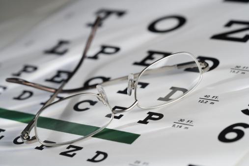 Optometrist「Still life of eye chart and glasses」:スマホ壁紙(14)