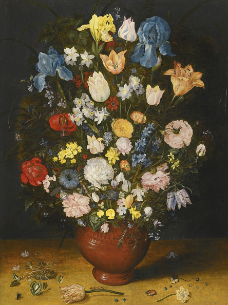 flower「Still Life With Irises Tulips Roses And Narcissus In A Ceramic Vase C1600-1605」:写真・画像(16)[壁紙.com]